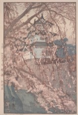 "Hiroshi Yoshida, ""Hirosaki Castle,"" 1935, polychrome woodblock print, Dallas Museum of Art, the Abram C. Joseph and Ruth F. Ring Collection, gift of Miss Ruth F. Ring, 1985.39"