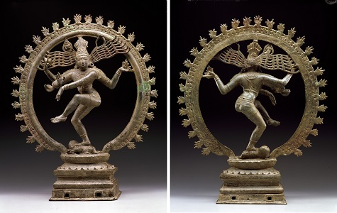 Shiva Nataraja, India, Chola dynasty, 11th century, bronze, Dallas Museum of Art, gift of Mrs. Eugene McDermott, the Hamon Charitable Foundation, and an anonymous donor in honor of David T. Owsley, with additional funding from The Cecil and Ida Green Foundation and the Cecil and Ida Green Acquisition Fund 2000.377