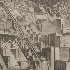 Adrian D. Clem, Construction Work Boulder Dam #1, 1934, Dallas Museum of Art, gift of the Public Works of Art Project
