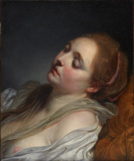 Jean-Baptiste Greuze, The Dreamer, 1765–1769, 29.2004.10, Lent by the Michael L. Rosenberg Foundation