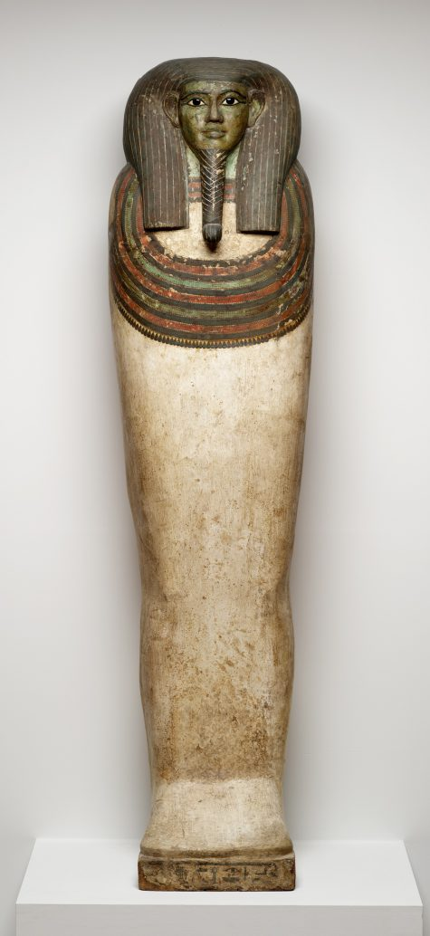 Coffin of Horankh, c. 700 B.C.E., wood, gesso, paint, obsidian, calicite, and bronze, Dallas Museum of Art, the Cecil and Ida Green Acquisition Fund, 1994.184