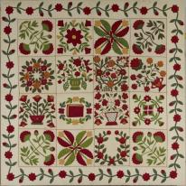 "Martha E. Keech, Baltimore, Maryland, ""Album"" quilt, c. 1861, Dallas Museum of Art, anonymous centennial gift"