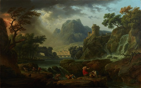 Claude-Joseph Vernet, A Mountain Landscape with an Approaching Storm, 1775, oil on canvas, Dallas Museum of Art, Foundation for the Arts Collection, Mrs. John B. O'Hara Fund 1983.41.FA