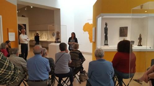 Megan in the African Galleries