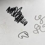 cut scribbles in various colors_in studio