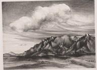 "Bertha M. Landers, ""Cheyenne Mountains,"" 1941, lithograph, Dallas Museum of Art, Elizabeth Crocker Memorial Prize, Twelfth Annual Dallas Allied Arts Exhibition, 1941, 1941.6"
