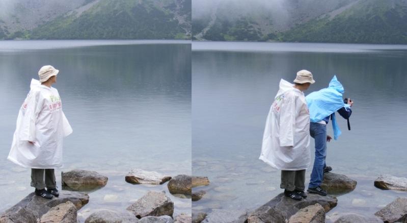 Podszednięte dziecko przy obejdzionym jeziorze