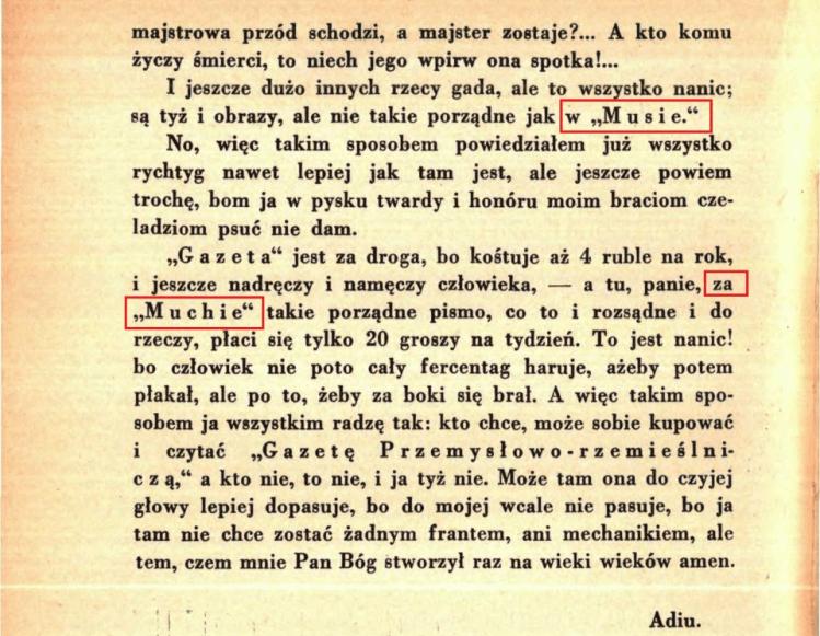 B. Prus, Do panów rzemięśników warsiaskich. Źródło: Wikisource