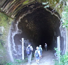 One of the tunnels on the trail which can be explored by visitors.