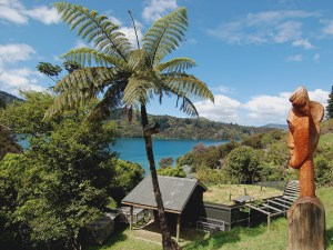 Lochmara Lodge Wildlife Recovery and Arts Centre is nestled in the beautiful Marlborough Sounds. Photo: Lochmara Lodge.