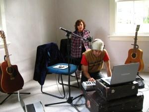 Temporary recording studio - Lake Tarawera