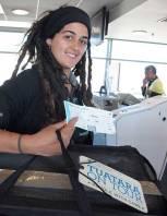 Carrianne Boyd checks the tuatara through to Maugatautari in the Waikato