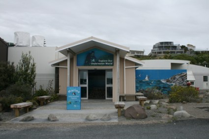 New Plymouth Marine Information Centre and garden.