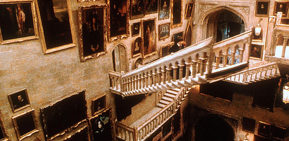 The magical moving staircase in Harry Potter.
