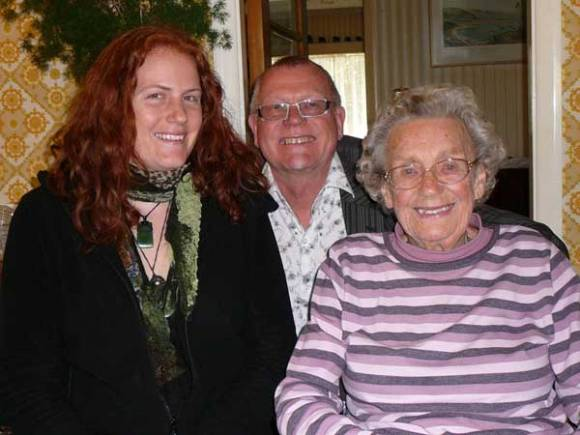 Geoff with his daughter Kate and his 93 year old mum.