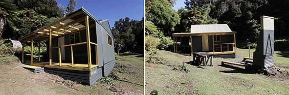 Makomako hut after a DOC/Dulux makeover.