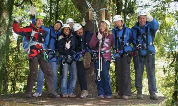 Opotiki staff at Rotorua Zip Lining.