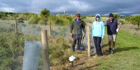 The takahē volunteer team on Mana Island.