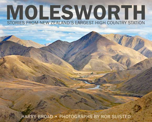 Book cover: Molesworth—Stories from New Zealand's Largest High-Country Station.