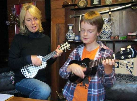My son Cassidy and I are part of a ukulele group and love to inexpertly bash out a few tunes of an evening.