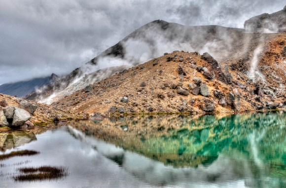 Lower Emerald Lake. Tongariro National Park. © All rights reserved by panafoot.