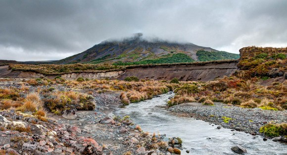 Our best view of Mt Ngauruhoe on our first day on Tongariro Northern Circuit. © All rights reserved by panafoot.