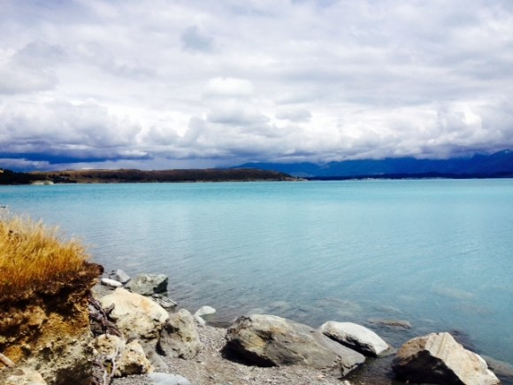 The alpine blue waters of Lake Pukaki.