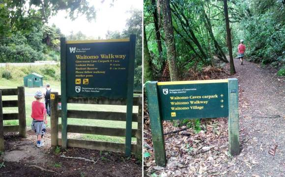 Waitomo Walkway signs
