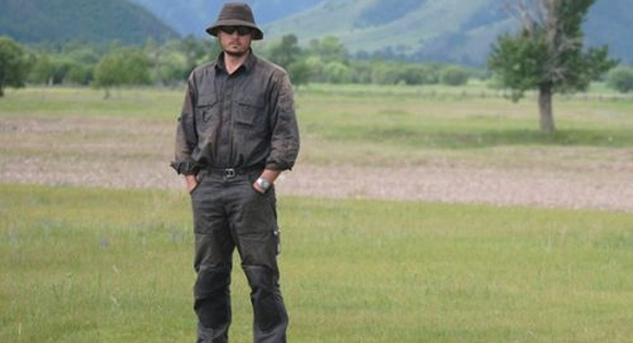 Andrew after 6 weeks in the field in Mongolia.