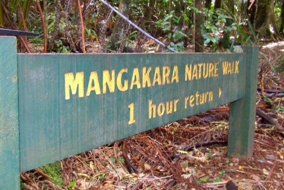 Mangakara Walk sign.