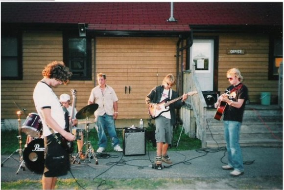 Jamming with staff from Camp Wabana in Canada.