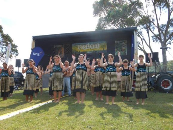 Kapahaka entertainment at the Pestival.