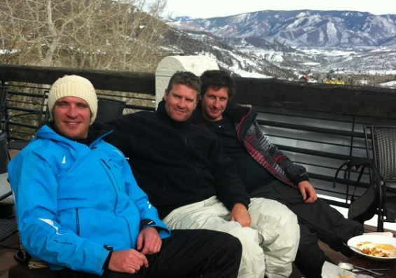 James and his brother in Aspen, Colorado.