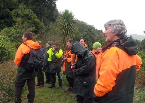 On our way to view the Mangaweka Scenic Reserve Dactylanthus in 2009.