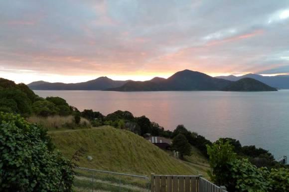 Sunset from Maud Island.