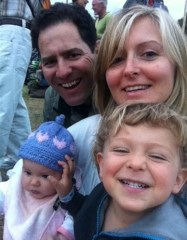 Nadine and her family at WOMAD.