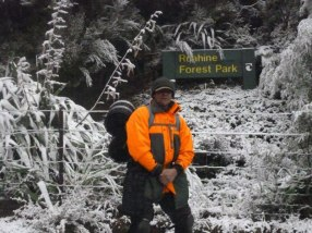 Tim Paki ready to work in the Ruahine Ranges