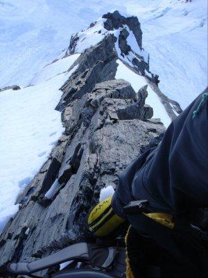 Climbing the Central Spur of Elie de Beaumont