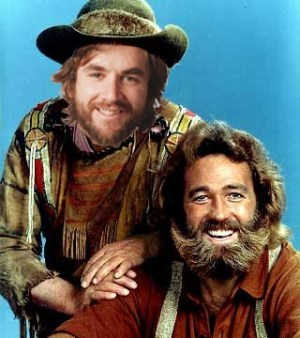 Jack Mace and his celebrity lookalike Grizzly Adams.