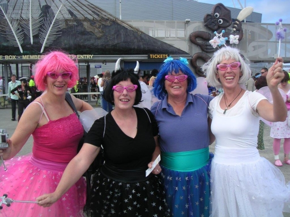 Kay Davies at the Wellington Sevens dressed as a fairy.