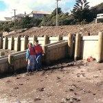My brother David and I at Paekakariki Beach