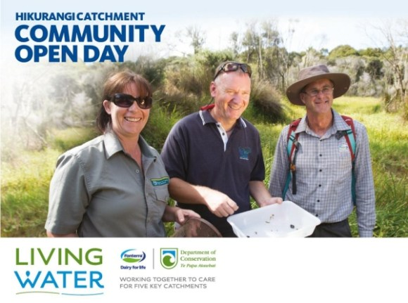 A poster advertising the Hikurangi catchment open day.