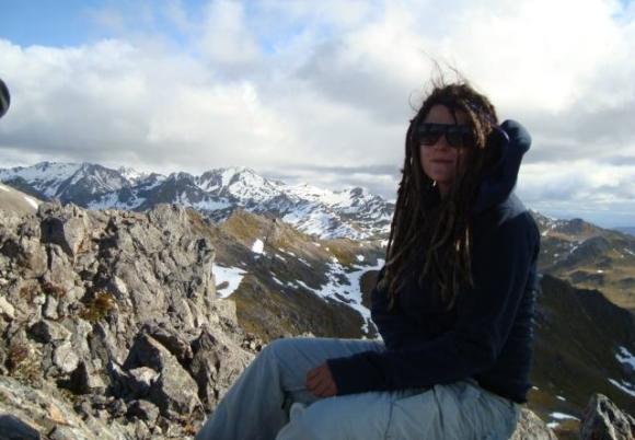 Emma at Julius Summit, Tasman.