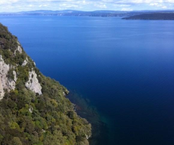 Aerial photo above Kawakawa Bay.