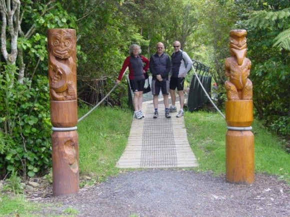 Norm, Anne and Chris at the start of the Queen Charlotte Track.