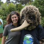 Amy with Rimu the kiwi during Conservation Week.