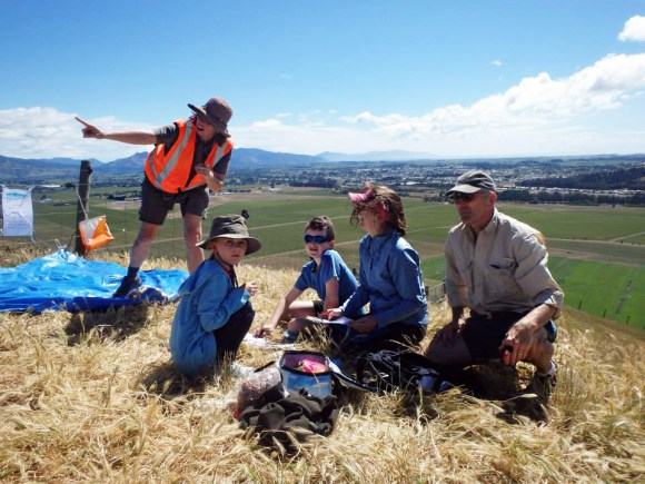 Partnerships Ranger Shelly Sidley points out local features. Photo: Sonya Sutherland.