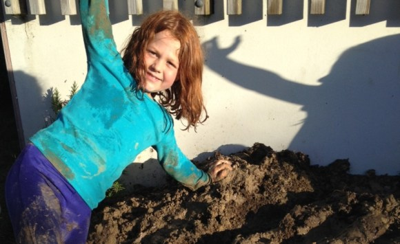 Making mud piles from a pile of mud.