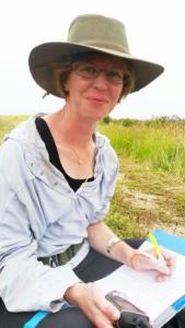 Stella McQueen at Whangamarino Wetland.