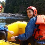 Sarah and her dad rafting. Photo: Sarah Ridsdale.